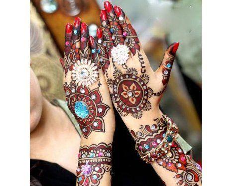 Beaded Henna Design