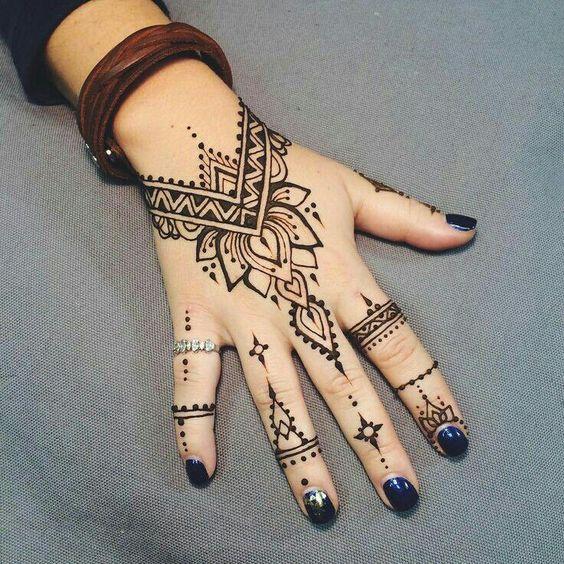 Easy Black Henna On Hand