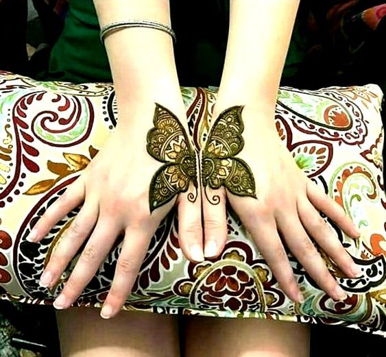 Butterfly Henna On hands