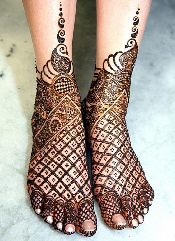 Feet Henna Design