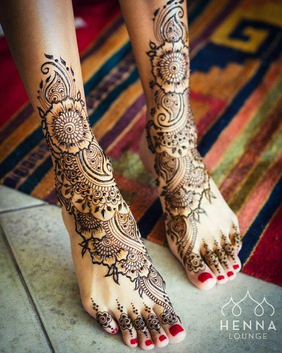 Legs Henna Design