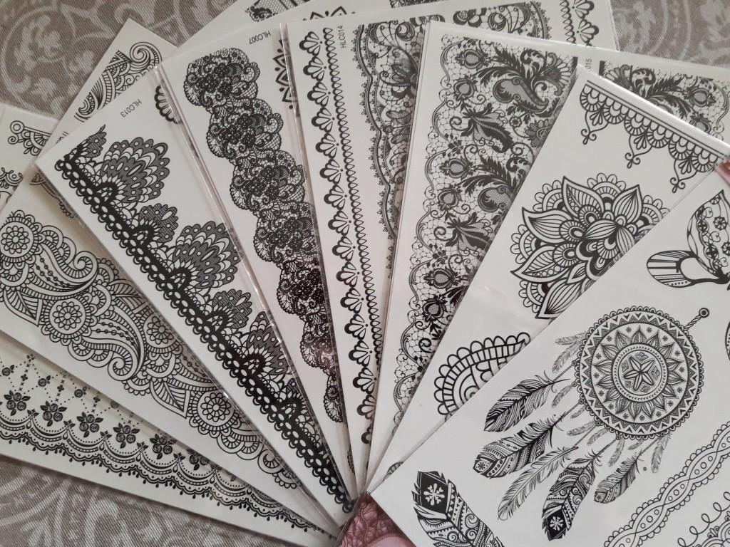 Stickers Henna Design