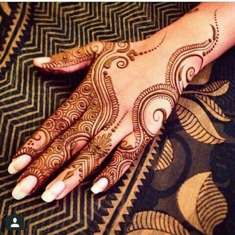 Red Henna Design