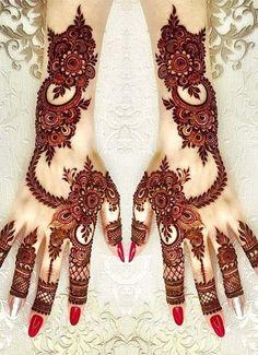Red Henna Designs