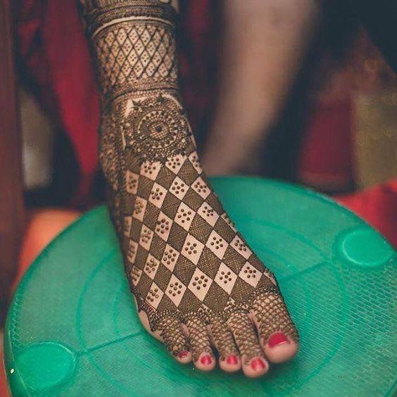 Red Henna On Feet