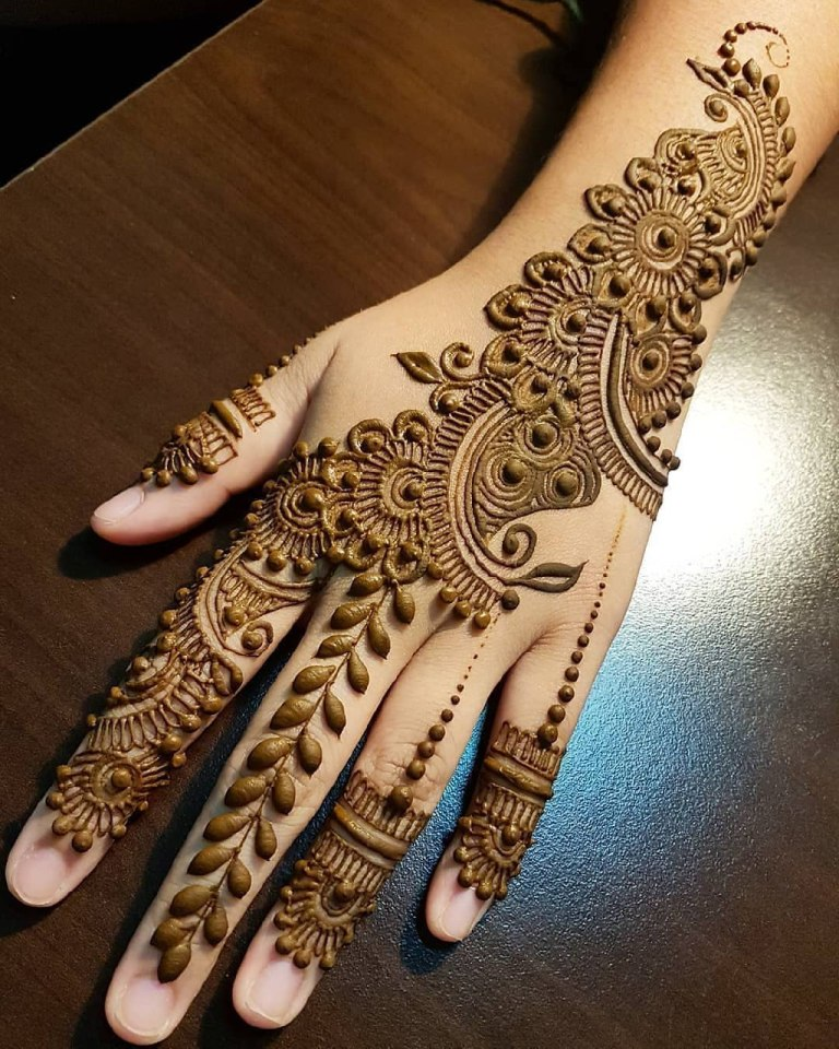Red Henna On Hands