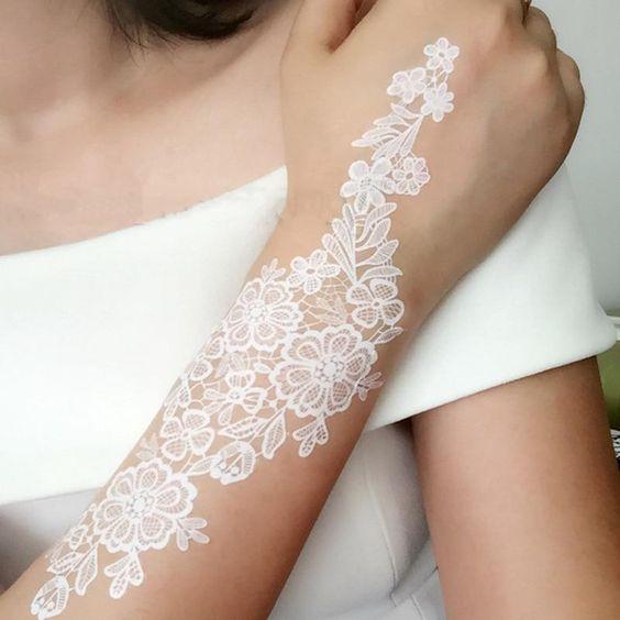 White Henna On Hands