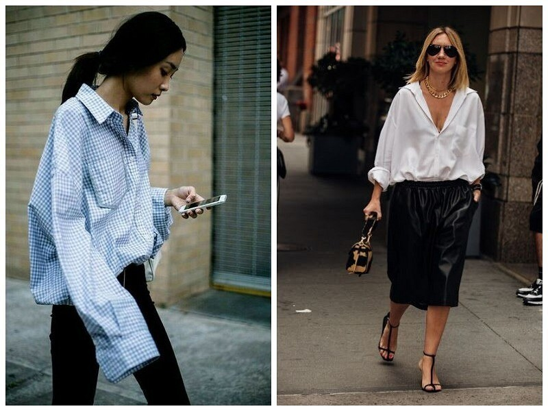 tucked in loose shirt